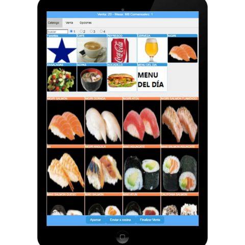 Sysme 西班牙语餐馆酒吧,批发零售触屏电脑收银CAJA软件